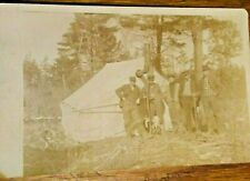 1911 RPPC Hunting Party & Tent-Stove, Woods, Arnot, Pennsylvania