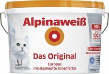 Alpinaweiß Innenfarbe 1l Wandfarbe Deckenfarbe weiß/matt