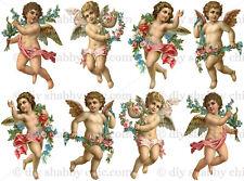 Furniture Decal Image Transfer Vintage Angel Cupid Cherub Label Love Card Making