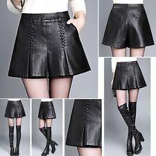 Gonna Pantaloncini Donna Simil Pelle Ecologica Woman PU Leather Shorts TRA011 P