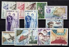 MONACO: SERIE COMPLETE DE 14 TIMBRES P.A. OBLIT N°73/86 Cote: 102,30 €