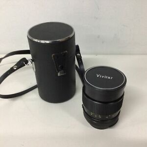 Vivitar Auto Telephoto 135mm 1:2.5 Lens Pentax P/ES M42 Mount With Case #563