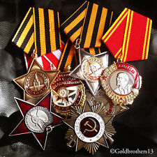 7x Order of Lenin , Red Star , Patriotic War , Red Banner & Glory Russian Repro