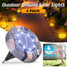 4 Pack LED Solar Power Ground Lights Floor Decking Outdoor Garden Lawn Path Lamp
