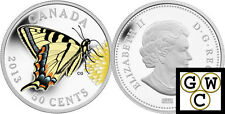 2013 Tiger Swallowtail Butterfly Colorized 50-Cent Coin Silver-Plated (13206)