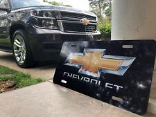 Chevy LICENSE PLATE Bowtie Black Car Truck Van Chevrolet Custom Car Tag OEM Logo