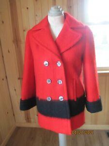 HUDSON BAY vintage coat size Med or large 100% virgin wool made in CANADA EUC