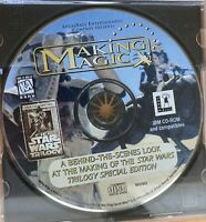 Star Wars Trilogy Making Magic IBM PC CD-ROM Making of Disc Lucasfilm Disc Only