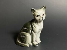 Little Burmese Black Cat Figurine Bone China Vintage Very Cute Approx 3.5 Inches
