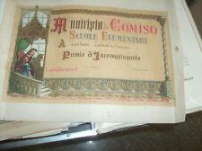 diplôme PRIX D'ENCOURAGEMENT écoles école primaire COMMUNE DE COMISO fine '800