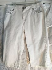 Willi Smith Womens Classic Cropped Jeans White Sz 12 Jeans Capri