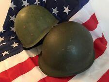 M1 Helmet Usa - Vietnam war complete set rear seam/1956 liner chin strap