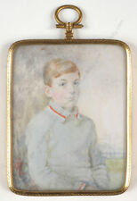 """G. Daw (active in England in the 1920s) """"Portrait of a boy"""", miniature, 1926"""
