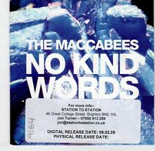 (EL479) The Maccabees, No Kind Words - 2009 DJ CD