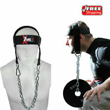 Head Harness Dipping Belt Neck Exercise Weight Lifting Gym Training with Chain