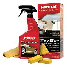 Mothers California Gold CLAY BAR KIT Cleans Smoothes Restores SAFE FOR CLEARCOAT
