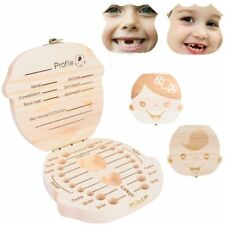 Boîte à Dents de Lait Rangement Bois Idée Cadeau de Naissance pour Garçon Fille