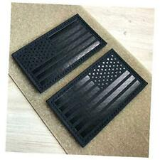 """2x3.5"""" Infrared IR US USA American Flag Patch Tactical Vest Patch Hook Black"""