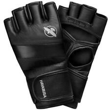 Hayabusa T3 Leather MMA Gloves 4oz Fight Sparring Grappling Training Black