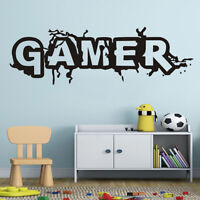 KQ_ GAMER Letters Removable Wall Sticker Art Vinyl Mural Decal DIY Home Room Dec