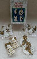 Victorian Christmas Ornaments Nostalgic vintage still sealed angel bell