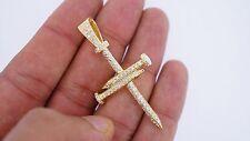 Nail Cross Pendant 10k Yellow Gold 8 Grams 1.09 Carat Diamonds Best Price On Net