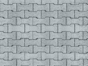 Vollmer 47372 Gehwegplatte Knochensteine aus Karton, 25 x 12,5 cm, Spur N