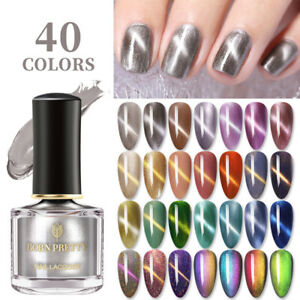 BORN PRETTY 40Colors Magnetic Nail Polish Glitter Shining Cat Eye Nail Varnish