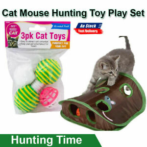 Cat Pads Corrugated Scratcher Soft Mat Bed Claws Hunting Time Curious Cats 4Pcs