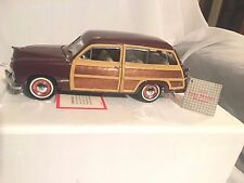 1949 Ford Woody Wagon Franklin Mint Brown Wood Panels,New,Mint,Classic,V intage