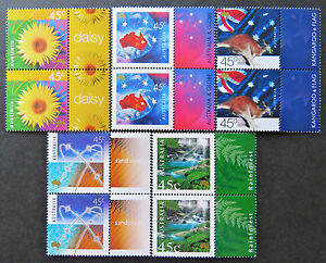 Australian Decimal Stamps: 2000 Nature & Nation - Set of 5x2 with Tabs MNH