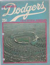 DODGERS 1971 OFFICIAL SCORECARD, VS. PIRATES, SCORED IN PENCIL