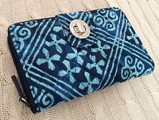 Vera Bradley RFID Turnlock Wallet Cuban Tiles Turn Lock