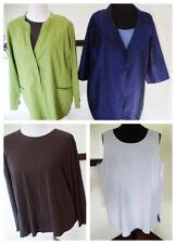 EILEEN FISHER Women's Plus Size 1X career: tank top/silk/ jacket/linen MIX/MATCH