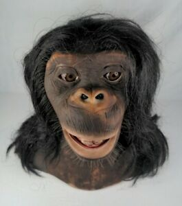 ALIVE! The Chimp Animatronic Head Toy by Sharper Image **TESTED** Read Details