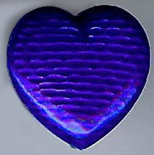 Antiguo Plata de Ley Azul Cobalto Esmalte Corazón RELOJ COLGANTE BROCHE