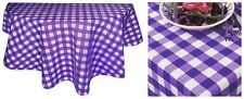 IMPERIAL PURPLE GINGHAM POLYCOTTON DRILL-QUALITY TABLE CLOTH COVER NAPKINS-LINEN