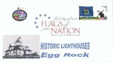 Flags of our Nation - Maine (Sc. 4295) Egg Rock Lighthouse