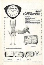 PUBLICITE ADVERTISING 1968 014 JAZ dator vous donne le jour et la date du mois