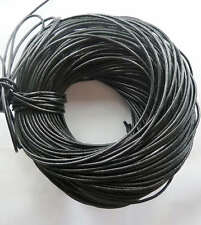 Free Ship 1Roll (100m) 100%Real Leather cords 2.5mm