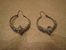 Vintage Silver Loop Earrings Mexico 1970's