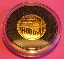2009 TDC CONCORDE 40TH ANNIVERSARY . 24 CT GOLD ONE CROWN PROOF COIN AND COA