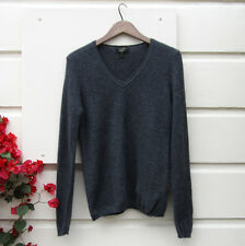 Dark Gray CHARTER CLUB LUXURY sweater 100% CASHMERE SOFT WARM V Neck Women Sz M