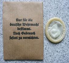 Wehrmacht Kondom - Nur für die deutsche Wehrmacht. Nach Gebrauch zu vernichten !
