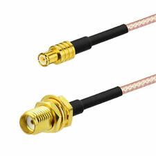 Superbat RG316 MCX Stecker zu SMA Buchse RF Koax Koaxial Verlängerung Kabel 30CM