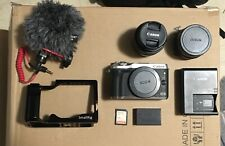 Canon EOS M6 24.2MP Digital Camera - Silver (Kit w/ EF-M 15-45mm Lens-Small Rig)