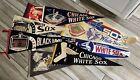 Vintage Lot of Chicago White Sox Baseball Black Hawks Felt Pennants