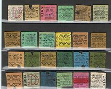 Railway Tickets Ireland, 24 No .G S R, Cork, Bray, Seapoint, Newbridge, Etc