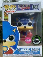 Sonic the Hedgehog Flocked Funko Pop Vinyl New in Mint Box + Protector