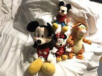 Mickey Mouse Stuffed Plush Toys lot of 4